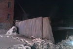 Zniszczony przez pożar garaż w Zagórniku