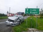 Wypdek drogowy w Gierałtowicach na skrzyżowaniu ulicy Beskidzkiej z Brzosy